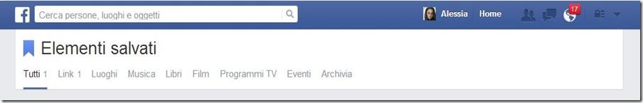Novità Facebook: salva i contenuti che vuoi leggere più tardi