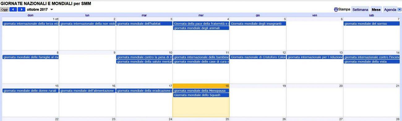 Calendario Nazionali.Pianificare La Strategia Social Il Calendario Completo